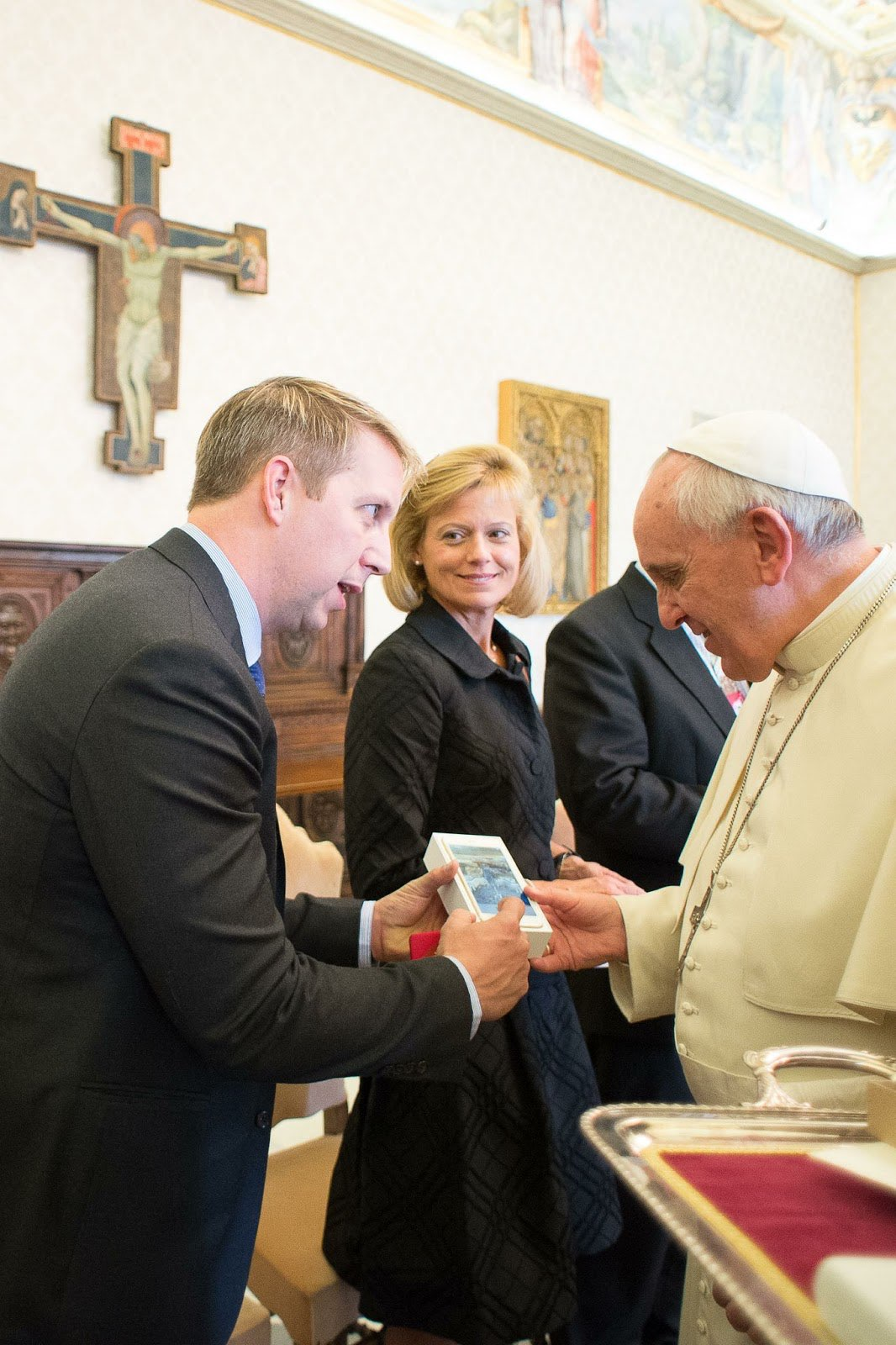Bobby Gruenewald meets with Pope Francis
