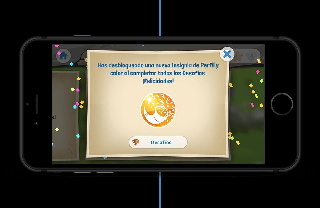 Has desbloqueado una nueva Insignia de Perfil y color al completar todos los Desafíos. ¡Felicidades!