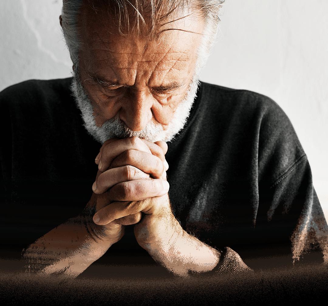 Bărbat care se roagă