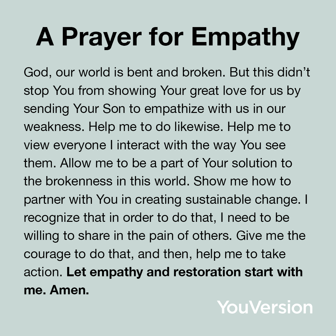 A Prayer for Empathy