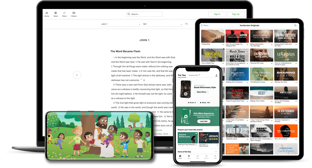Bible App & Bible App for Kids on devices