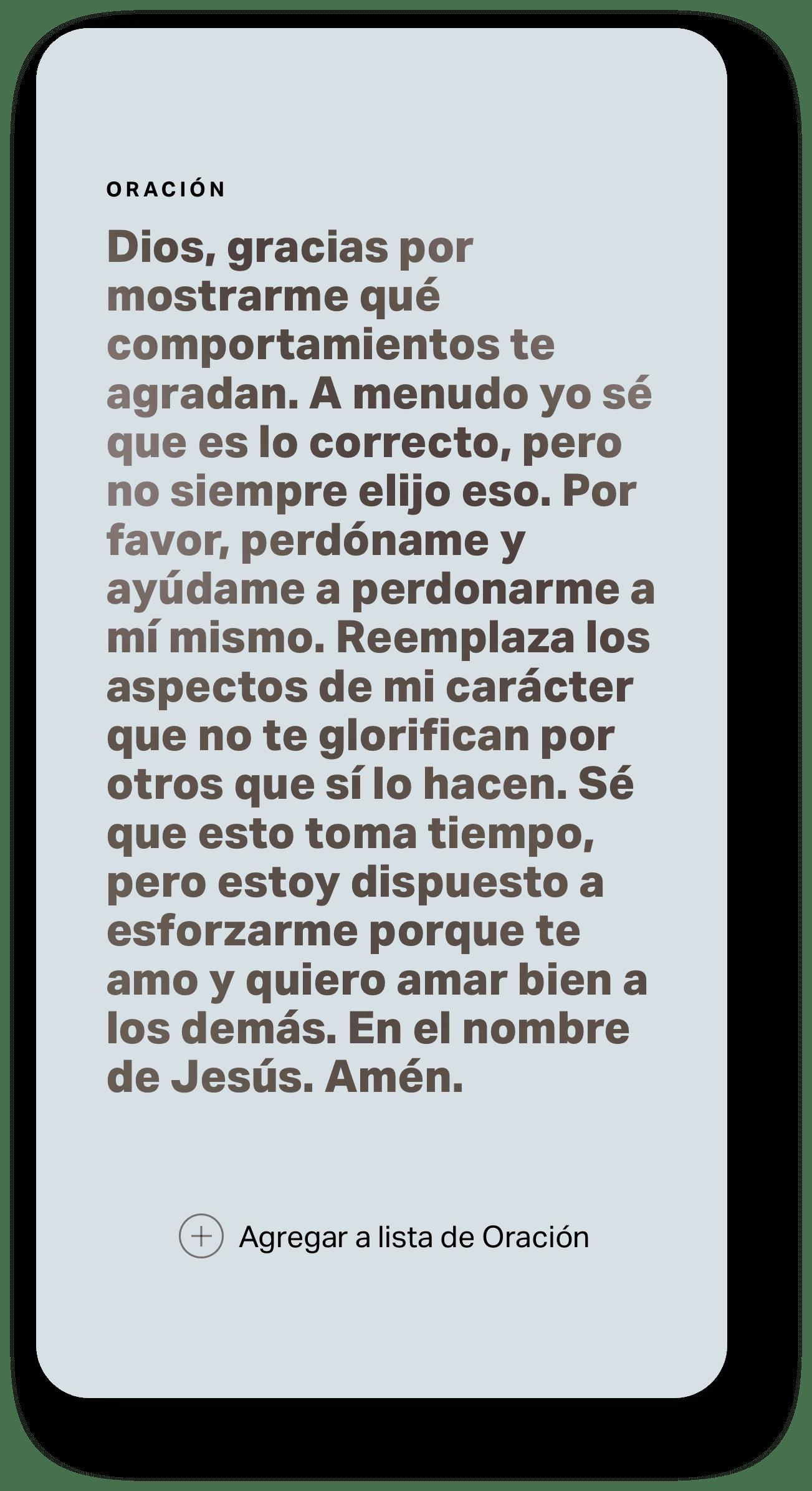 Oración de Historias