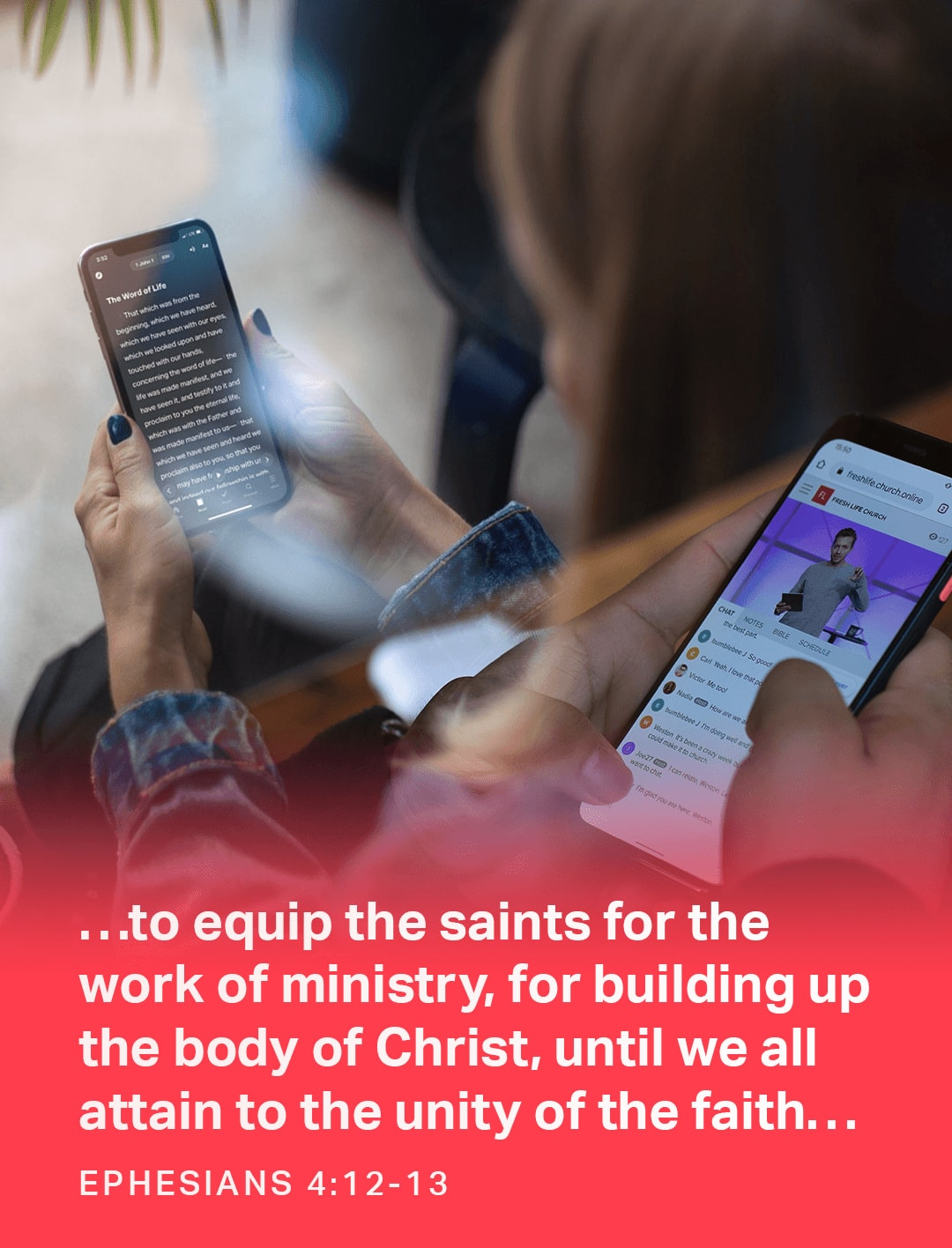 …to equip the saints for the work of ministry, for building up the body of Christ, until we all attain to the unity of the faith… - Ephesians 4:12-13