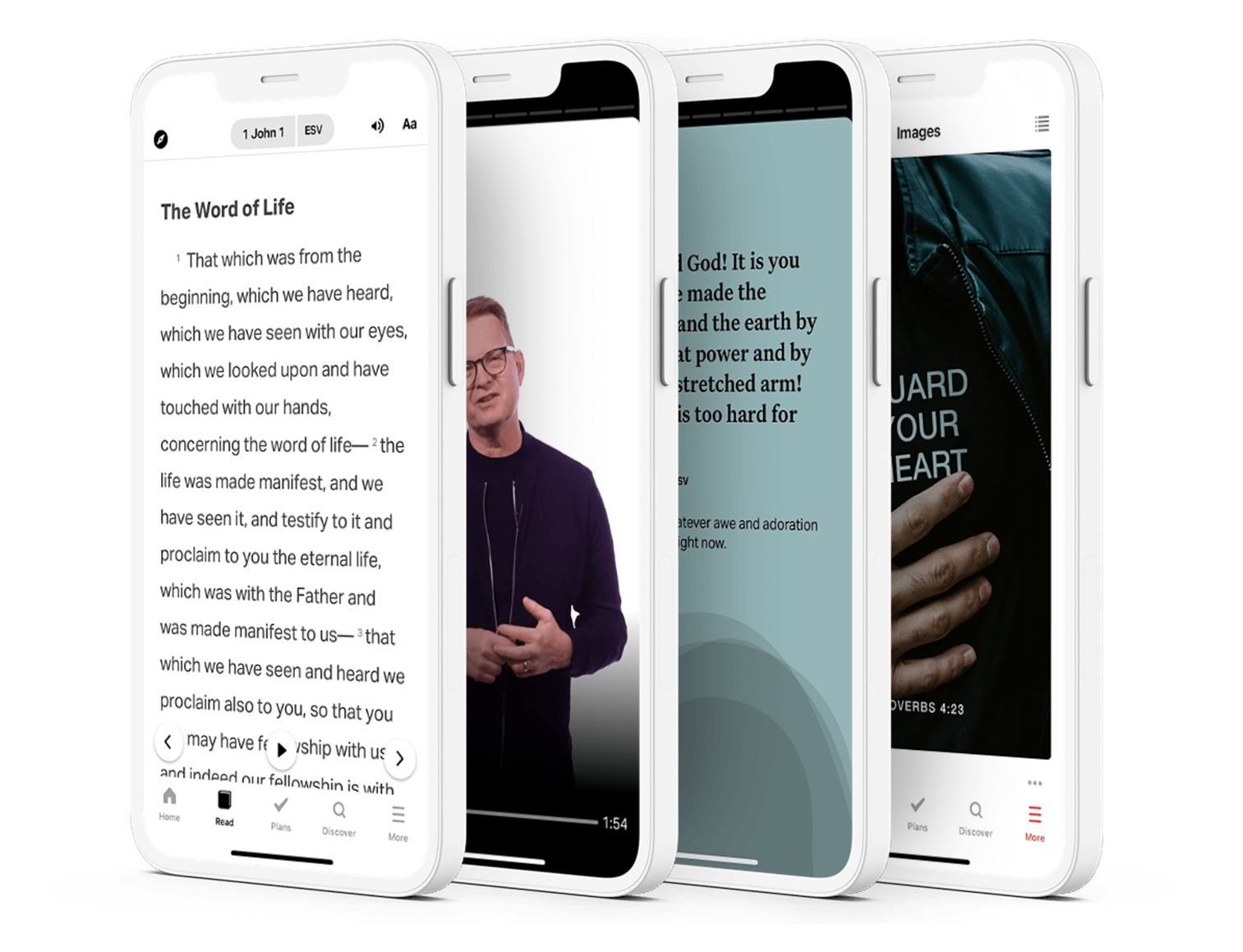 Bible App features on phone