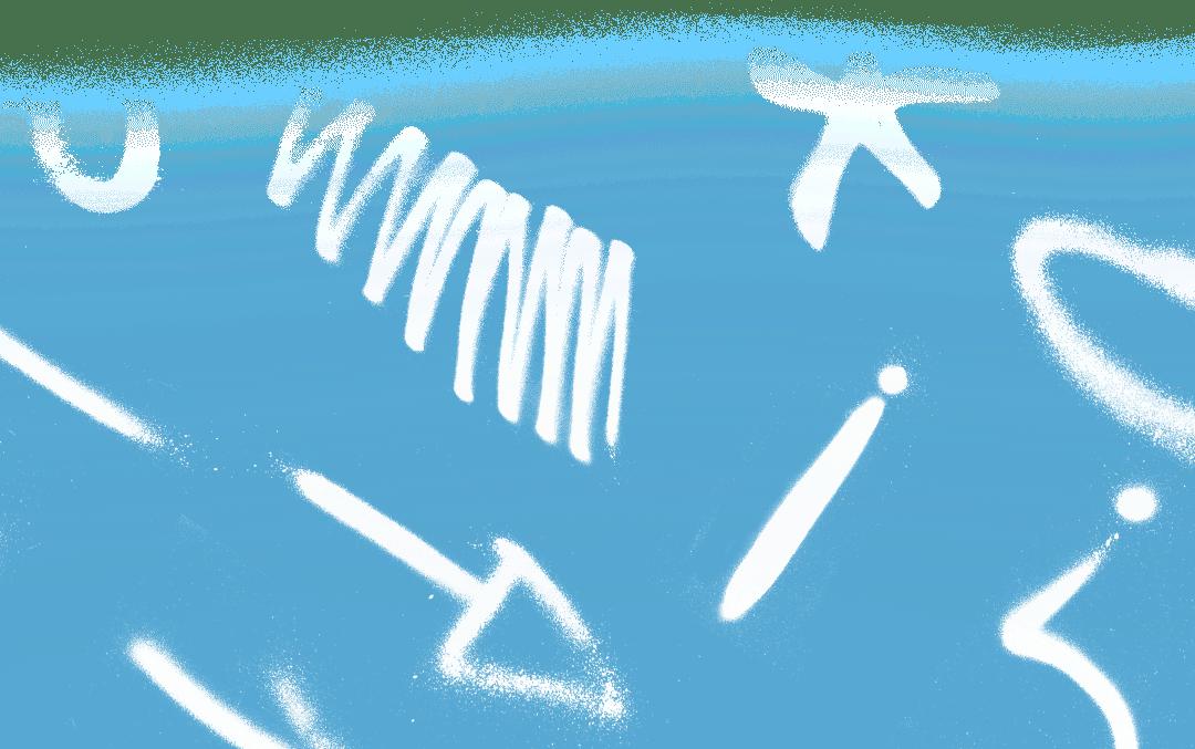 Gráfico de grafiti azul